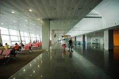 Интерьер 15-ое мая 2014 Украины международного аэропорта Borispol: Новый стержень для отклонения воздушных судн Тема воздуха tr Стоковое Изображение