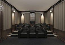 Интерьер домашнего кинотеатра Стоковое Изображение