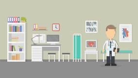 Интерьер офиса кардиолога Стоковые Изображения RF