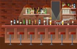 Интерьер паба, кафа или бара стоковая фотография