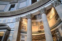 Интерьер пантеона Рима стоковые фото