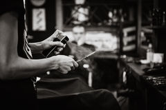 интерьер парикмахерской винтажный Стоковые Фотографии RF