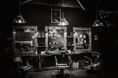 интерьер парикмахерской винтажный Стоковое Фото