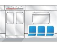 Интерьер поезда метро иллюстрация штока