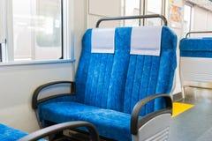 Интерьер поезда с транспортом дела свободных мест Стоковое Изображение