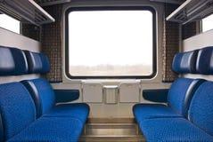 Интерьер поезда стоковые изображения rf