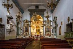 Интерьер приходской церкви Canico Стоковое Изображение RF