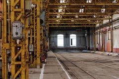 Интерьер промышленного здания Стоковая Фотография RF