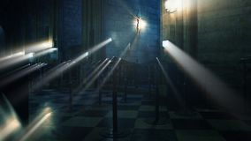 интерьер распятия собора Нотр-Дам de Парижа видеоматериал