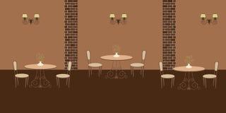 Интерьер ресторана в коричневые цвета Стоковые Изображения