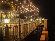 Интерьер ресторана в курорте Стоковые Изображения RF