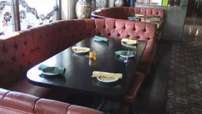 Интерьер ресторана семьи видеоматериал