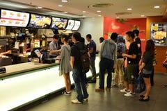 Интерьер ресторана McDonald Стоковое Фото