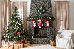 Интерьер рождества Стоковые Изображения RF