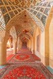 Интерьер розовой мечети стоковые изображения