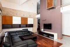 Интерьер роскошной квартиры Стоковое Изображение RF