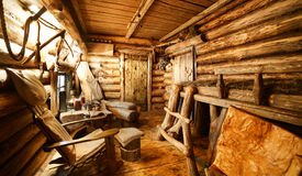 Интерьер русской деревянной сауны Стоковая Фотография RF