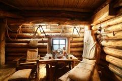 Интерьер русской деревянной сауны Стоковые Фотографии RF