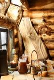 Интерьер русской деревянной сауны Стоковые Фото