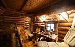 Интерьер русской деревянной сауны Стоковое Фото