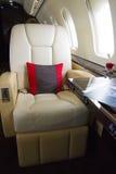 Интерьер самолета двигателя дела VIP Стоковые Изображения RF
