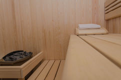 Интерьер сауны Стоковая Фотография RF