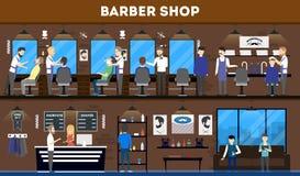 Интерьер салона парикмахерскаи Стоковая Фотография RF