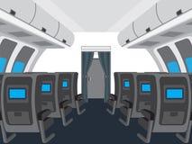 Интерьер салона самолета Стоковая Фотография