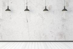 Интерьер света с пустой стеной Стоковые Фото