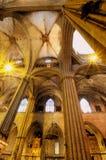интерьер собора готский Стоковое фото RF