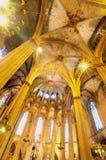 интерьер собора готский Стоковое Фото