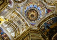 Интерьер собора Исаак Святого Стоковые Изображения RF