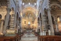 Интерьер собора Пизы, Италия Стоковая Фотография