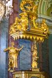 Интерьер собора Питера и Пола в крепости Питера и Пола, Санкт-Петербурге, России Стоковое Фото