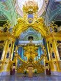 Интерьер собора Питера и Пола в Санкт-Петербурге Стоковые Изображения RF