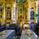 Интерьер собора Питера и Пола в Санкт-Петербурге Стоковое Фото