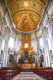 Интерьер собора Питер святой в Ватикан Стоковые Изображения