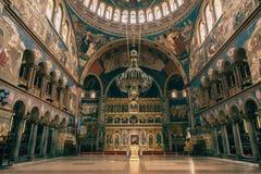 Интерьер собора принятый в Сибиу Румынию Стоковое Изображение RF