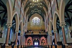 Интерьер собора римско-католической церков Стоковые Изображения RF
