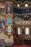 Интерьер собора святой троицы Город Сибиу в RomaniaInterior собора святой троицы Город Сибиу в Румынии Стоковое Изображение RF