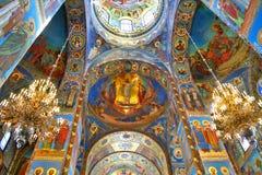 интерьер собора Стоковая Фотография