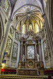 Интерьер собора Cuenca, главной часовни или высокого алтара стоковое фото rf