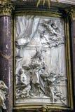 Интерьер собора Cuenca, детали главной часовни или h стоковое фото