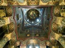 Интерьер собора Curtea de Arges, Румыния стоковые изображения rf