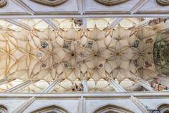 Интерьер собора, Kutna Hora, место наследия ЮНЕСКО, центральная Богемия, чехия Стоковая Фотография