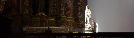 Интерьер собора Se, Фуншал, Мадейра стоковая фотография rf