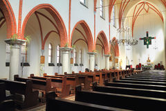 Интерьер собора St Bruno в Chernyahovsk Стоковые Фотографии RF