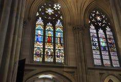 Интерьер собора St. Patrick от центра города Манхаттана в Нью-Йорке в Соединенных Штатах Стоковое Изображение