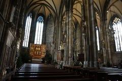 Интерьер собора St Stephen в Вене стоковое фото rf