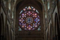 Интерьер собора Vitus величественный стоковое фото
